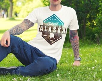 Home Sweet Alaska, Alaska Shirt, Alaska Tee, Alaska, Hiking Shirt, Alaska Gifts, Alaska T-Shirt, Alaskan Made, Gifts From Alaska, Hiking