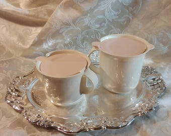 Tupperware Pastel Sugar Bowl & Creamer
