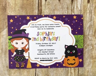 Witch Birthday Invitation