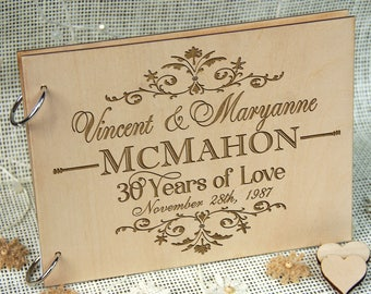 Personalized Wedding Anniversary Guest Book, Great Gift for Anniversary, Wedding, Birthday, or Retirement! Memorable Gift for Couple.