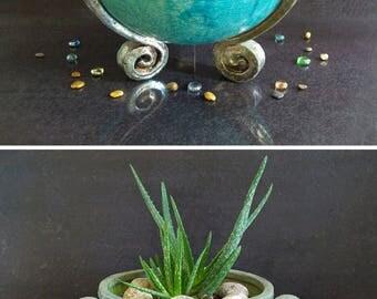 raku pottery large ceramic bowl, large pottery bowl, large fruit bowl, ceramic cauldron, large footed bowl, large raku bowl personalized