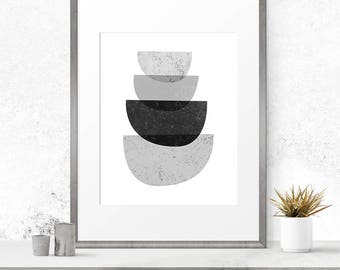 Printable Abstract Art, Printable Wall Art, Black And White Art, Geometric Art, Scandinavian Print, Instant Download Art, Printable Prints