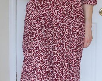 Red Calico Dress