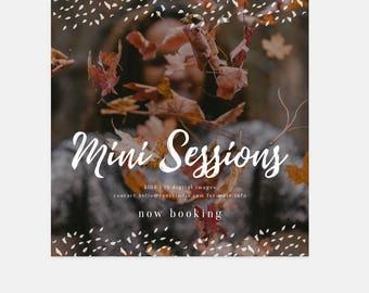 "Fall Mini Session Template - Photoshop Template for Photographers - Marketing Template Design - Instagram Template - ""Confetti"""