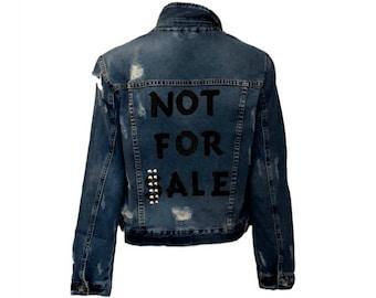 Not For Sale Jean Denim Jacket - Hipchik