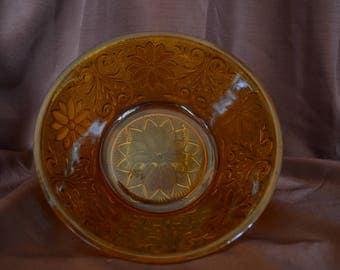 Vintage 'Indiana Glass' Amber Bowl