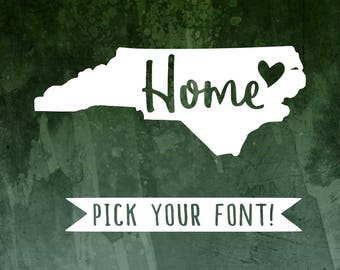 North Carolina State Home Decal | NC State Love | NC Home Decal | North Carolina Decal | NC State | North Carolina Home Decal | nc sticker