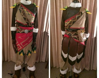 Legend of Zelda Breath of the wild cosplay costume for Snowquill Link armor, custom commission, with 3d printed accessories