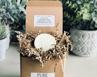 """Pure All-Natural Vegan Soap """"100% Hand Made - Round"""""""