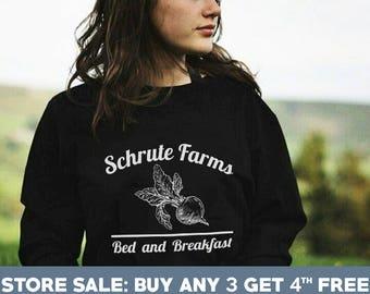 Schrute Farms Sweatshirts. The Office Tshirts Dwight Schrute Sweatshirts Bears Beets Battlestar Galactica Shirts Men Sweatshirt Women Gifts