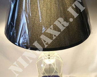 Table Lamp bottle empty Rum Brugal gift idea Recycling Creative furniture design reuse abat jour table lamp Light
