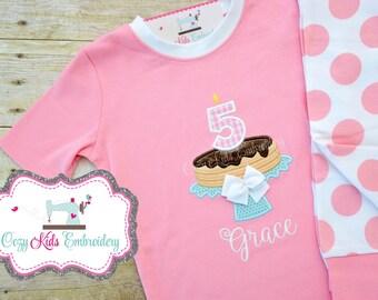 Pancake Pajamas, Girl's Pancake Pajamas, Pancake Pajamas for a Pancake and Pajamas Party, Sleepover Pajamas ,Party Pajamas