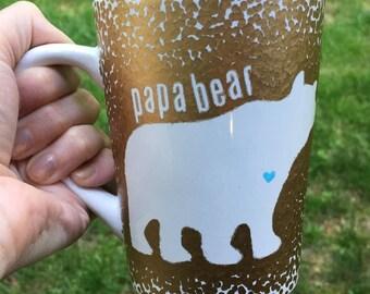 Papa Bear Coffee Mug, Papa Bear Mug, Papa Coffee Mug, Bear Coffee Mug, Papa Bear, Papa Coffee, Mug Papa, Papa Mug, Dad Mug, Bear Mug