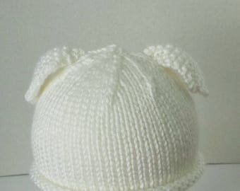 Baby's Lamb Hat - Newborn to 3 Months