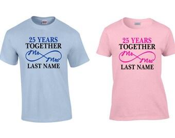 25 year anniversary gift 25th anniversary gift 25 year anniversary shirts 25th anniversary - 25th Wedding Anniversary Gifts
