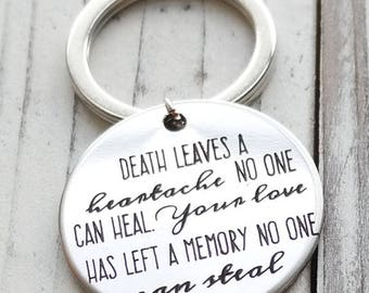 Death Leaves a Heartache No One Can Heal Personalized Key Chain - Engraved