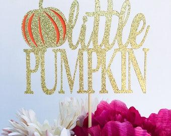 Little pumpkin cake topper | Baby shower cake topper | Pumpkin baby shower | Halloween party | Halloween decor | Halloween party decorations