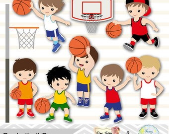 Digital Basketball Boys Clipart, Basketball Boy Digital Clip Art, Sport Clipart, Sport Boys Digital Clip Art, Sport Boy Clipart 0259