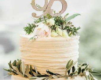 Monogram glitter cake topper, Rose Gold Monogram cake toppers,Personalized MonogramCake topper,Wedding Cake Topper in your Choice of Glitter