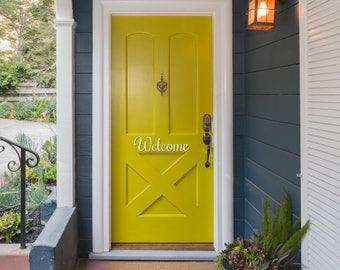 Welcome Decal | Welcome Sign | Front Door Welcome Vinyl Decal