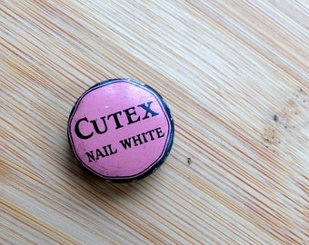 Cutex Nail White Tin - Northam Warren New York Manicure Vintage Beauty