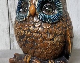 Owls, Owl Vase, Owl Planter, Vintage Owl, 70's Owl Planter, Vintage Vase