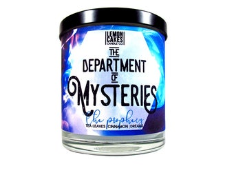 Department of Mysteries - Book Candle - Book Lover Gift - 10oz Soy Candle - LemonCakes Candle Co - Tea Leaves, Cinnamon, Dreams
