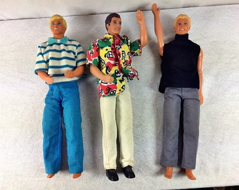 Barbie Ken Dolls set of 3 1988-1991