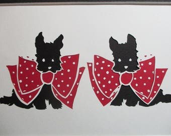 Scotty Dogs Retro Paper Art