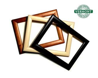 Set of 2 - MAPLE Wood Photo Frame, Picture Frame Set, Black, White or Walnut, Easel Back, 4x6 Photo Frame, 5x7 Picture Frame, 8x10 Frame Set