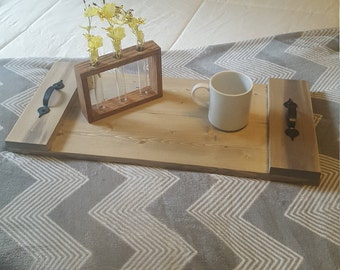 Rustic Serving Tray, Coffee Table Tray, Ottoman Tray, Breakfast in Bed