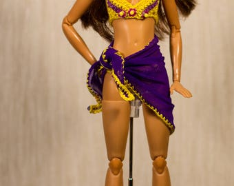 Handmade Barbie clothes Barbie crochet Handmade summer set for Fashion Royalty, Barbie dolls and other dolls with similar body size