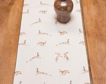 Boxing/ Running Hare Table Runner