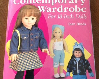 Contemporary wardrobe for 18 inch dolls, sleepwear for 18 inch dolls, outerwear for 18 inh dolls, 18 inch doll pattern book, doll patterns