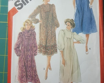 1982 Vintage Sewing Pattern, Simplicity 5553, Uncut, Plus Size Petite 22.5, Loose Fitting Pullover Asymmetrical Dress with Pockets