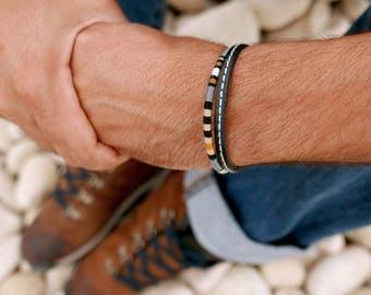 Men leather bracelet, Leather bracelet, Mens Bracelet, Mens gift, Hipster men bracelet, Boyfriend Gift, Bracelet for men, Mens jewelry Gift
