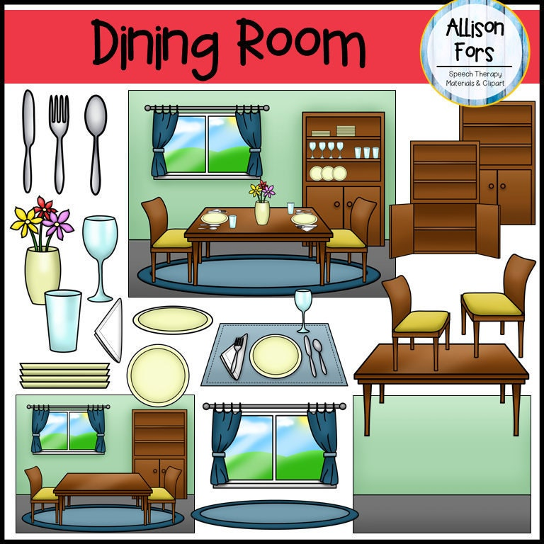 Kitchen Window Clip Art: Dining Room Clip Art