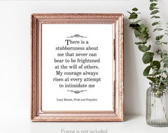 Feminism / Jane Austen quotes / Jane Austen wall art / Pride and Prejudice quotes / Woman writer gifts /