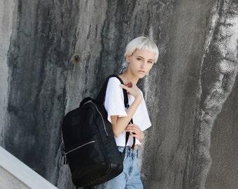 Womens Backpack, Black Backpack, Canvas Backpack, Rucksack, Zipper Backpack, Leather Backpack, Backpack for Men, Backpack, Laptop Backpack