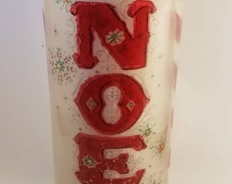CHRISTMAS GEL CANDEL Unscented Tea Light Noel