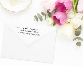 Return Address Stamp, Address Stamp, Custom Address Stamp, Calligraphy Address Stamp, Personalized Return Address Stamp, Rubber Stamp #71