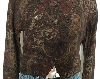 90s Gérard Darel paisley short jacket