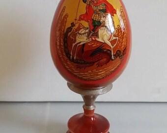 Orthodox icon of Saint George egg