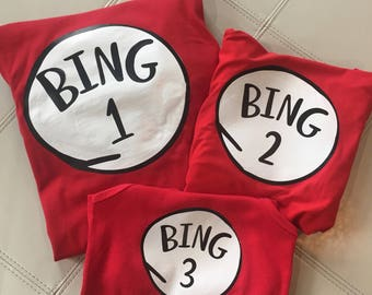 Thing 1, Thing 2, Customize, Last Name, Dr. Suess, Shirts