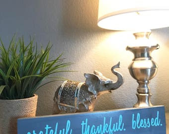 Grateful thankful blessed | inspirational reclaimed pallet wood home decor