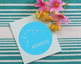 Zodiac Sign Vinyl Decal | Aquarius