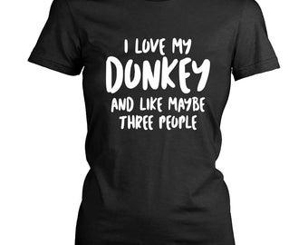 I Love My Donkey, Donkey TShirt, Donkey Lover, Gift for Donkey Lover, Love Donkeys, Donkey Shirt, Donkey Humor, Donkey Gift Ideas, Donkey