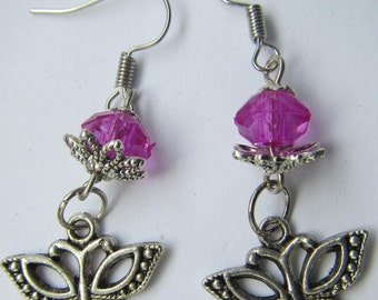 butterfly bead earings