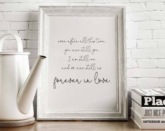 Forever in Love - Digital Print, Poster, Quote, Anniversary