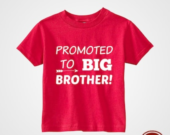 Kids T-Shirt Boys Toddler Fun Cute Tee - Promoted to big brother!